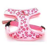 Pink Leopard softy Harness & Lead